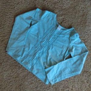 Garnet Hill blue cotton shirt